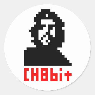 CH8bit Round Sticker