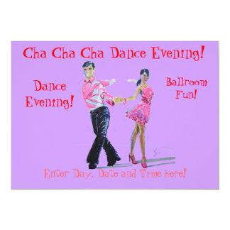Cha Cha Cha Ballroom Dancing Personalized Invitations