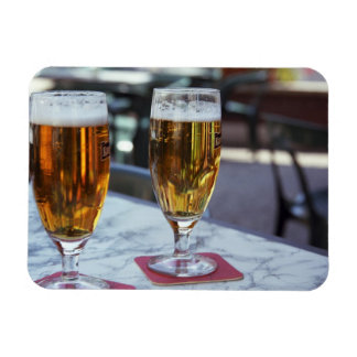 Chablis; two cool beers at 42 degrees hot summer rectangular photo magnet