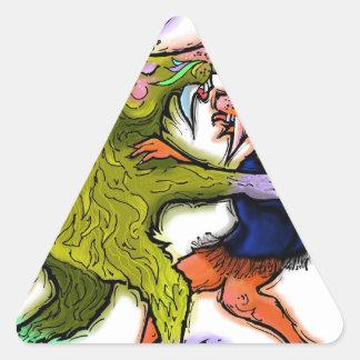 Chachacha.jpg Triangle Sticker