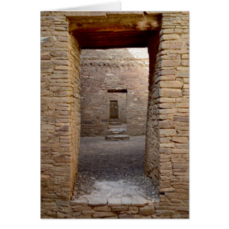 Chaco Canyon doorway Card