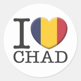 Chad Classic Round Sticker
