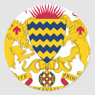 Chad Coat Of Arms Classic Round Sticker