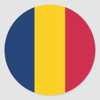 Chad Flag Classic Round Sticker