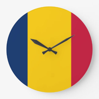 Chad Flag Large Clock