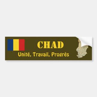 Chad Flag + Map Bumper Sticker