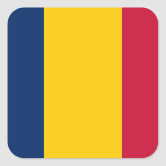 Chad Flag Square Sticker
