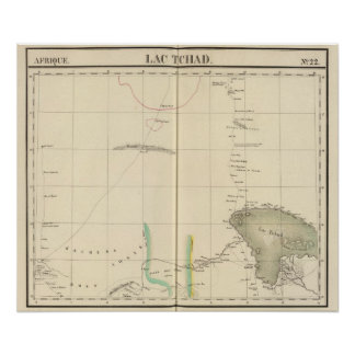 Chad Lake Region, Africa Poster
