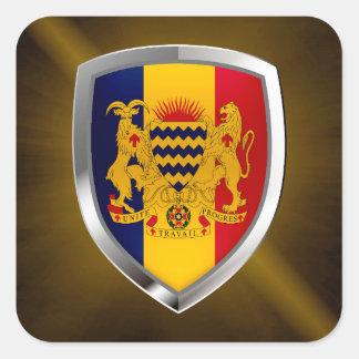 Chad Mettalic Emblem Square Sticker