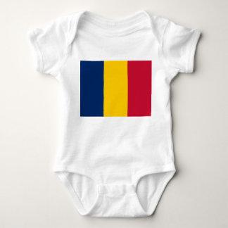 Chad National World Flag Baby Bodysuit