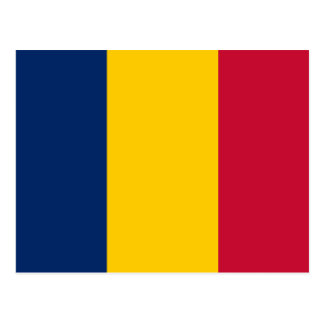 Chad National World Flag Postcard