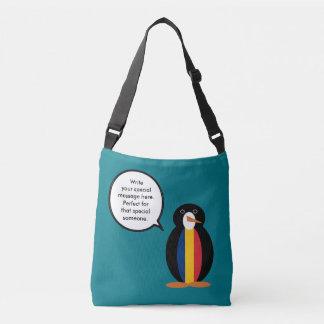 Chadian Talking Penguin Crossbody Bag