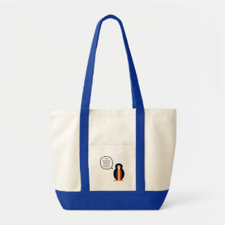 Chadian Talking Penguin Tote Bag