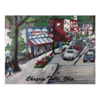 Chagrin Falls, Ohio Street Scene Painting Postcard