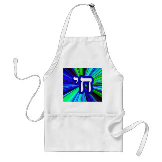 "Chai - Hebrew Meaning, ""Life."" Adult Apron"