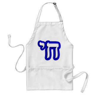 """Chai - Hebrew Meaning, """"Life."""" Standard Apron"""