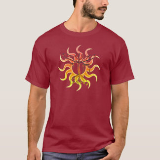 Chai Menorah Sun Dark Shirts