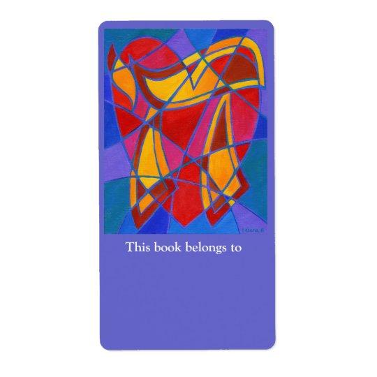 Chai Mosaic IV Bookplate Label