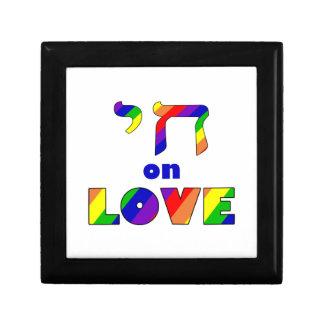Chai on LOVE, white stroke Zazzle.png Small Square Gift Box