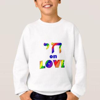 Chai on LOVE, white stroke Zazzle.png Sweatshirt