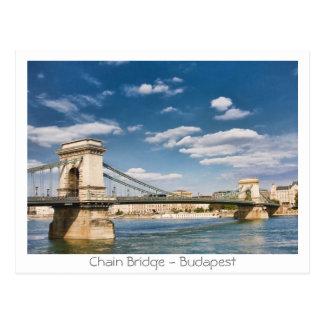 Chain Bridge - Budapest Postcard