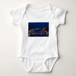 Chain bridge Hungary Budapest at night Baby Bodysuit