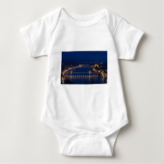 Chain bridge Hungary Budapest at night Baby Bodysuit