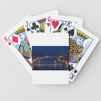 Chain bridge Hungary Budapest at night Bicycle Playing Cards
