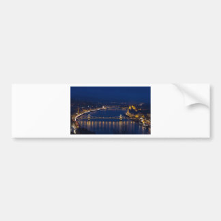 Chain bridge Hungary Budapest at night Bumper Sticker