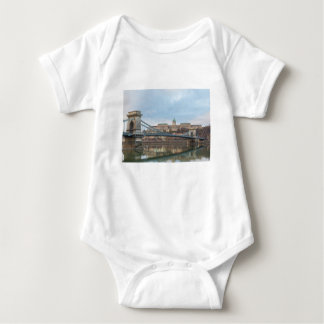 Chain Bridge with Buda Castle Hungary Budapest Baby Bodysuit
