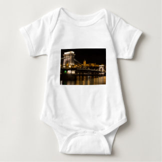 Chain Bridge with Buda Castle Hungary Budapest Baby Bodysuit