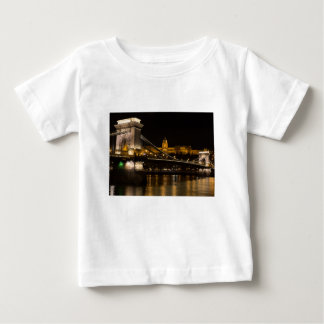 Chain Bridge with Buda Castle Hungary Budapest Baby T-Shirt