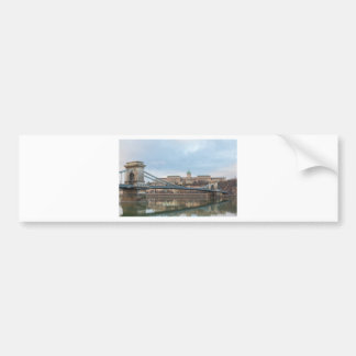 Chain Bridge with Buda Castle Hungary Budapest Bumper Sticker