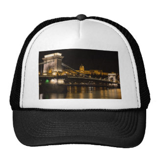 Chain Bridge with Buda Castle Hungary Budapest Cap