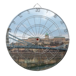 Chain Bridge with Buda Castle Hungary Budapest Dartboard