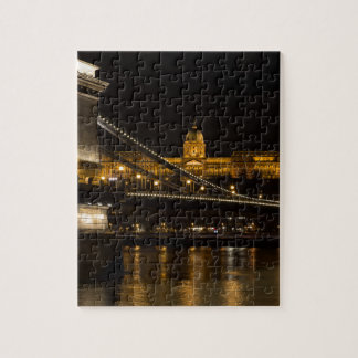 Chain Bridge with Buda Castle Hungary Budapest Jigsaw Puzzle