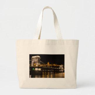 Chain Bridge with Buda Castle Hungary Budapest Large Tote Bag