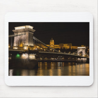 Chain Bridge with Buda Castle Hungary Budapest Mouse Pad