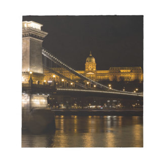 Chain Bridge with Buda Castle Hungary Budapest Notepads