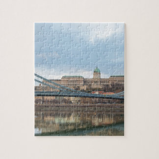 Chain Bridge with Buda Castle Hungary Budapest Puzzles