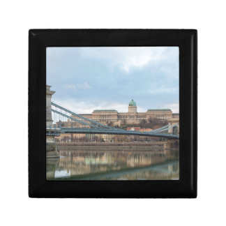 Chain Bridge with Buda Castle Hungary Budapest Small Square Gift Box