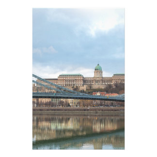 Chain Bridge with Buda Castle Hungary Budapest Stationery