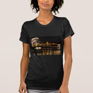 Chain Bridge with Buda Castle Hungary Budapest T-Shirt