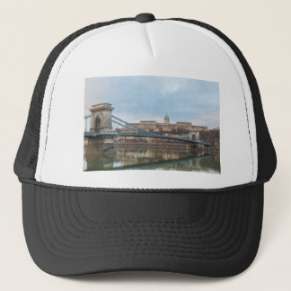 Chain Bridge with Buda Castle Hungary Budapest Trucker Hat