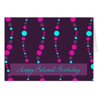 chain happy belated birthday greeting card