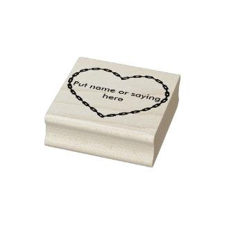 Chain heart shape 2 illustration art stamp