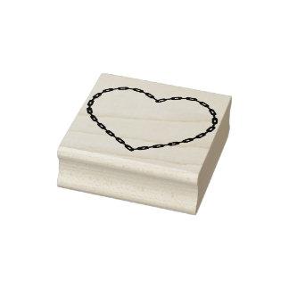 Chain heart shape illustration art stamp