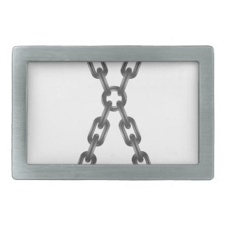chain letter rectangular belt buckle