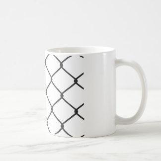Chain Link Fence Pattern Coffee Mug
