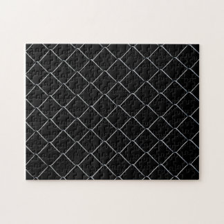 Chain Link Fence Pattern Jigsaw Puzzle